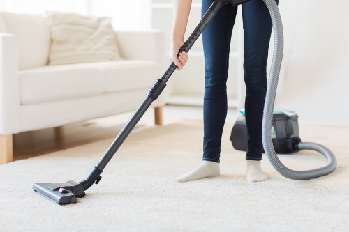Residential Cleaning in Weston MI - vacuuming carpets